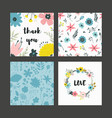 beautiful greeting card with floral pastel vector image vector image