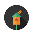 Bird House with Bird flat icon vector image vector image