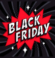 black friday sale comic style banner black friday vector image