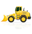 bulldozer on wheels vector image vector image