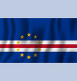 cape verde realistic waving flag national vector image vector image