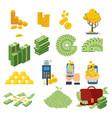cash paper money set vector image vector image