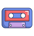 cassete tape icon cartoon style vector image
