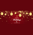 christmas banners set with fir branches with gold vector image