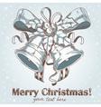 Christmas hand drawn retro postcard vector image vector image