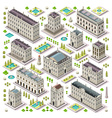City Map Set 06 Tiles Isometric vector image vector image