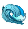 color breaking tropical sea marine wave storm vector image