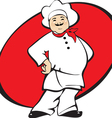 cook man cartoon vector image vector image