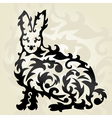 decorative rabbit vector image