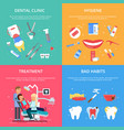 dentist reception healthcare concept vector image vector image