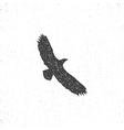 Eagle silhouette symbol Retro style Letterpress vector image