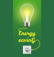 energy saving concept background realistic style vector image