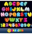 Funny Comics Font vector image vector image