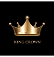 Gold Crown on black vector image