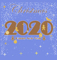 happy new year 2020 christmas design icon vector image vector image