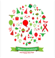 Icon christmas and happy new year vector image vector image