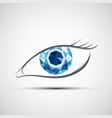 icon human eye vector image vector image
