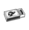 matchbox sketch vector image