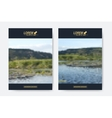 Modern templates for brochure Leaflet vector image vector image