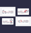 news icons business card journalist man character vector image
