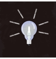 Nice Idea Glowing Lightbulb concept vector image vector image