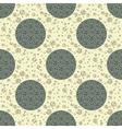 ornate textured polka dot seamless pattern vector image vector image