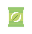 package leaf environment green energy icon vector image