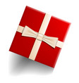 red gift box icon realistic style vector image