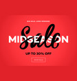 sale banner template midseason sale red vector image