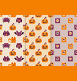 seamless backgrounds with halloween icons vector image vector image