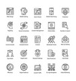 search engine and optimization creative icons vector image vector image