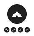 Set of 5 editable travel icons includes symbols