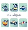 set of cooking icons vector image vector image