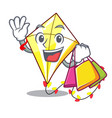 shopping kite small the cartoon on table vector image
