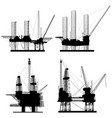 silhouettes units for oil industry vector image vector image