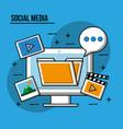social media image vector image