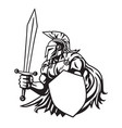 spartan warrior drawing vector image vector image