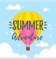 summer design for season postcard vector image
