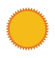 sun sunny star isolated icon vector image