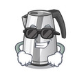 super cool plastic electric kettle isolated on vector image