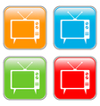 TV button set vector image vector image
