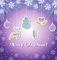 Violete christmas greeting card vector image