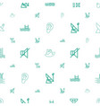 waves icons pattern seamless white background vector image vector image
