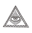 with an all-seeing eye masonic symbol vector image