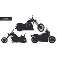 motorcycles silhouettes set vector image
