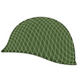 camouflaged military helmet vector image