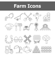Outline farm icons vector image