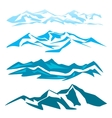 A set of several mountain obrozovanie vector image vector image