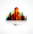abstract city on white vector image