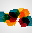 Abstract geometric shapes background vector image vector image